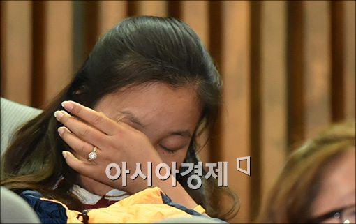 [포토]눈물 흘리는 세월호 유가족