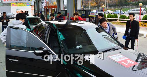 [포토]'차량주유와 점검 한창~'