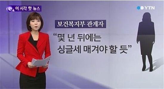 싱글세 [사진=YTN 뉴스 캡쳐]