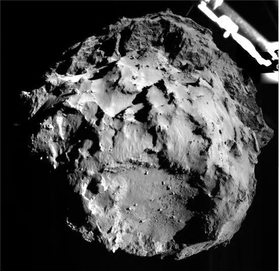 ▲펠레가 촬영한 혜성.[사진제공=ESA]