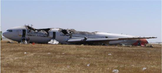 아시아나항공 미국 샌프란시스코공항 착륙사고에 대한 NTSB 최종보고서내 수록된 사고 항공기(OZ214편).