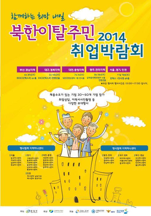 북한이탈주민 취업 박람회 포스터
