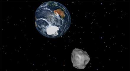 ▲2013년 2월15일 지구에 다가왔던 소행성 '2012 DA14'의 모습.[사진제공=NASA]