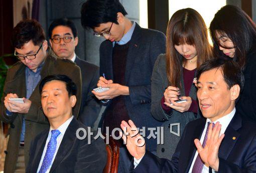 [포토]모두발언하는 이주열 한국은행 총재
