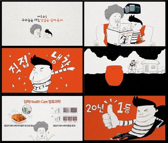 대유위니아가 딤채 출시 20년을 맞아 제작한 '딤채 동화' /