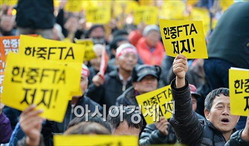 [포토]'한-중 FTA 저지'