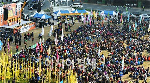 [포토]서울광장 메운 농민들