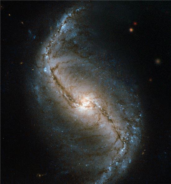 ▲허블이 촬영한 NGC 986 은하.[사진제공=NASA]