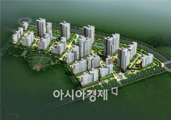 경남기업이 3-3생활권 M6블록 제4공구 아파트 건설공사를 수주했다. (자료제공 : 경남기업)