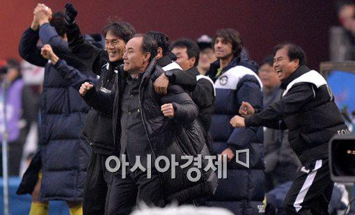 [포토]김학범 감독,'FA컵 우승이 눈앞이야!'
