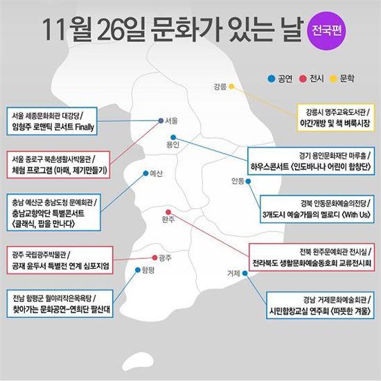 11월 문화의 날 전국 주요 행사 지도