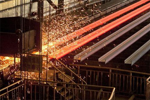 중국의 한 철강 생산 공장. 사진=블룸버그