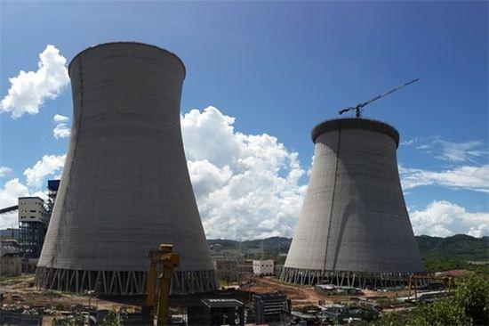 미얀마에 최초로 지어지는 발전소의 냉각탑. 사진=반푸퍼블릭