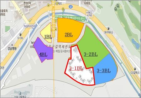 기흥역세권 3-1블록 위치도