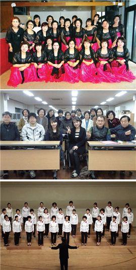 정기공연을 위해 연습과 팀워크를 다지고 있는 대전마을합창단 단원들.(사진=대전문화재단 제공)