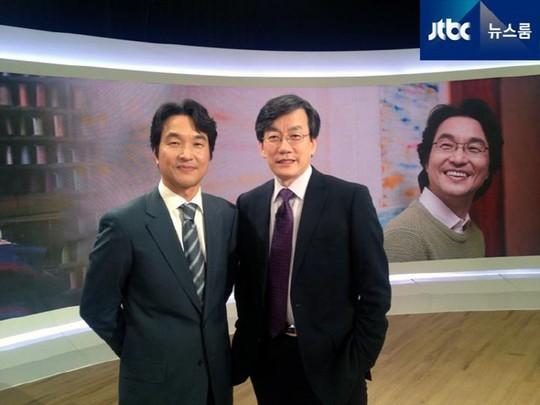 한석규 손석희 [사진=JTBC 뉴스 트위터]