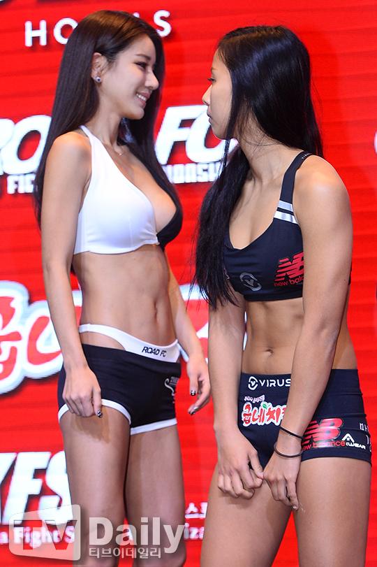 박시현(왼쪽) 송가연(오른쪽)