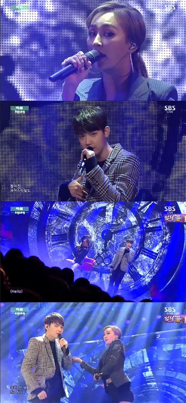 SBS'인기가요' 효린X주영/해당 방송 화면 캡처