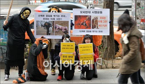 [포토]'모피 반대' 캠페인