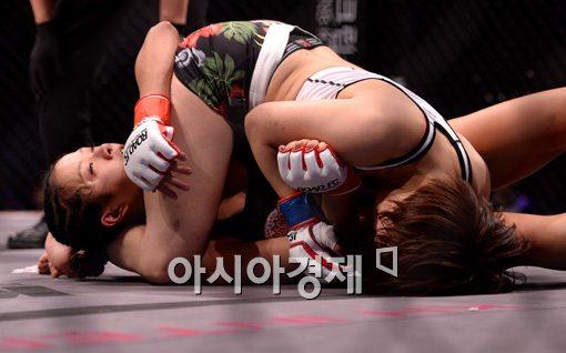 [포토]송가연, '상대가 너무 강하다'