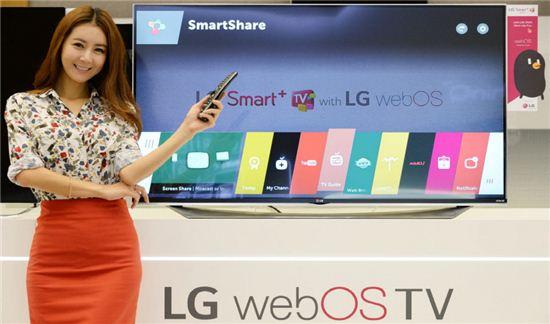 웹OS 2.0을 탑재한 LG전자의 '스마트+ TV'