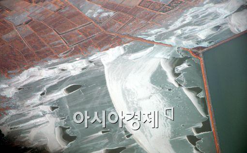 [포토]꽁꽁 얼어버린 시화호