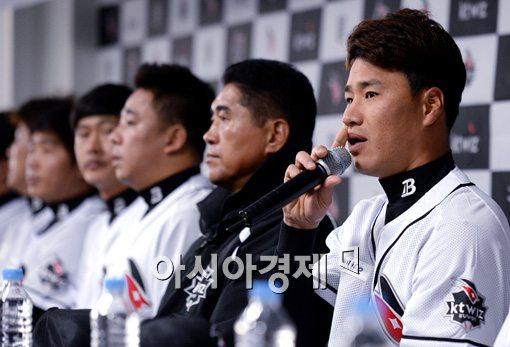 [포토]소감 말하는 kt 김상현