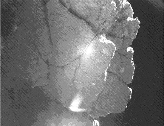 ▲필레가 촬영한 67P 혜성 표면.[사진제공=ESA]