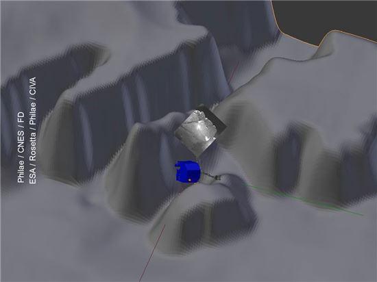 ▲필레는 '근일점 절벽'에 있는 것으로 파악됐다.[사진제공=ESA]