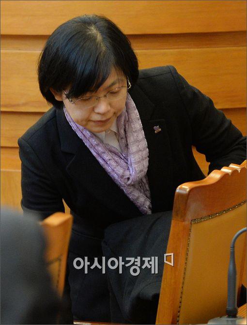 [포토]심판정 나서는 이정희 통진당 대표