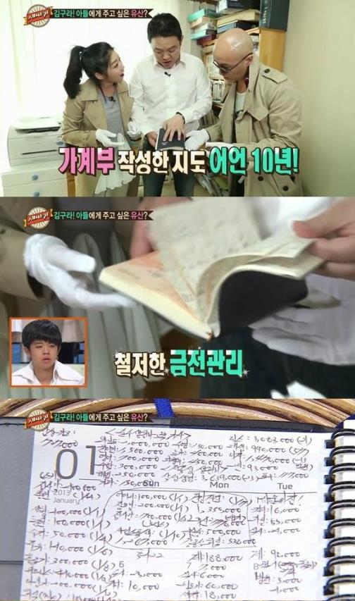 김구라 가계부 [사진=MBC 방송 캡쳐]