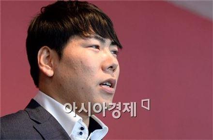 [포토]메이저리그 진출 앞둔 넥센 강정호