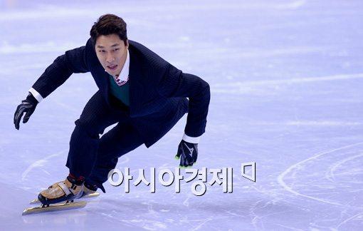 [포토]김동성, '왕년의 실력이 나오려나?'