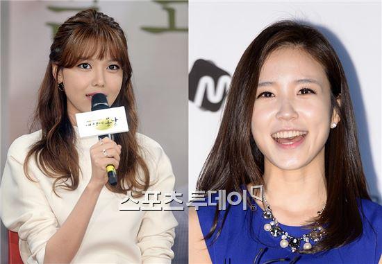 소녀시대 수영(왼쪽)-장예원