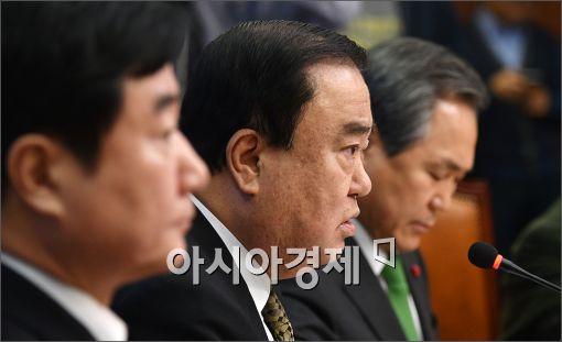 [포토]발언하는 문희상 비대위원장