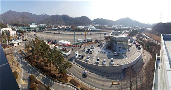 서울외곽순환고속도로 민자구간에 처음으로 문을 여는 '양주휴게소' 전경(제공: 국토교통부)