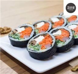 바르다김선생의 크림 치즈 김밥(사진=바르다김선생)