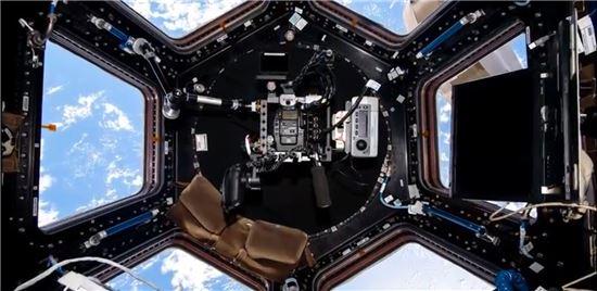 ▲ISS의 큐볼라에서는 지구의 파노라마 영상 촬영이 가능하다.[사진제공=NASA]