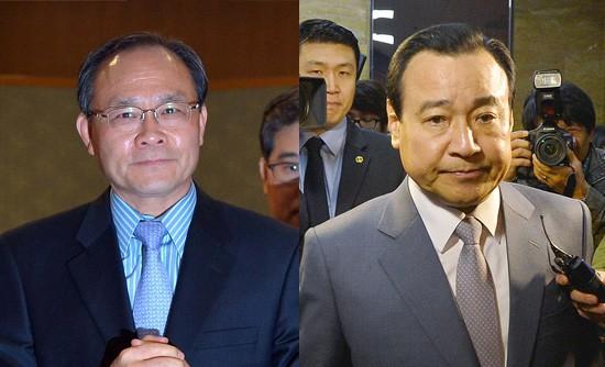 고(故) 성완종 전 경남기업 회장(왼쪽)과 이완구 전 국무총리
