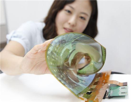 LG디스플레이의 18인치 플렉시블 OLED (참고자료)