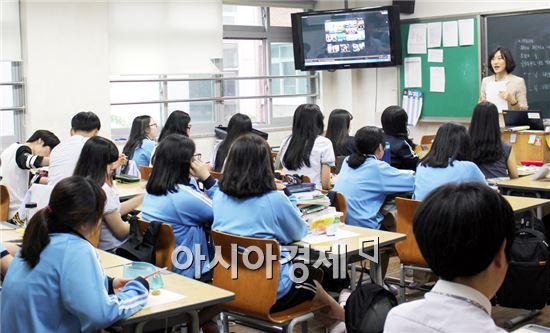호남대 언어치료학과는 장덕고 '직업체험의 날'에  참여했다.