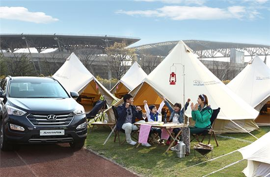 오토캠핑을 즐기는 가족<자료사진=현대차>