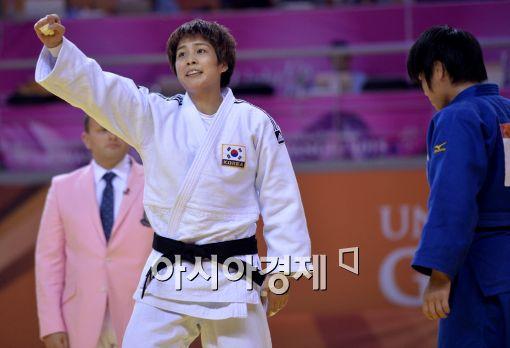 한국 여자유도 대표 김성연 선수.