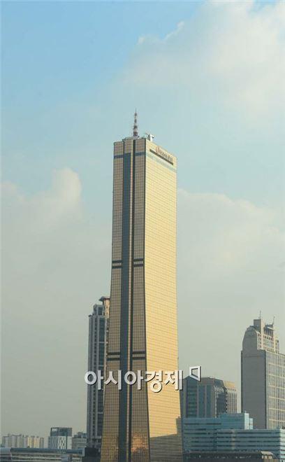 한화갤러리아 면세점이 들어선 63빌딩.