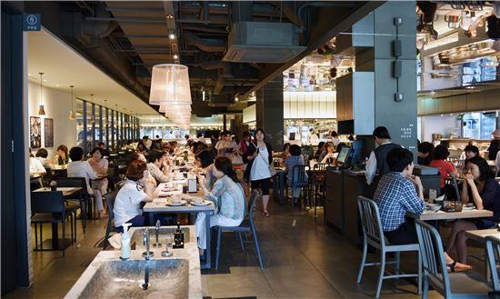 신세계 영등포 식당가 올반 내부