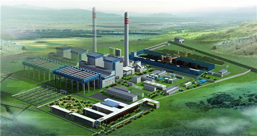 ▲중국 간쑤성 우웨이 석탄 열병합 발전소 조감도 (제공 = LG상사)