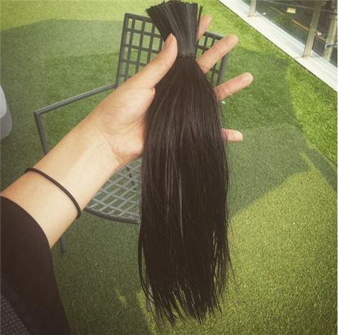 주다영 머리카락 기증. 사진=주다영 인스타그램 캡처