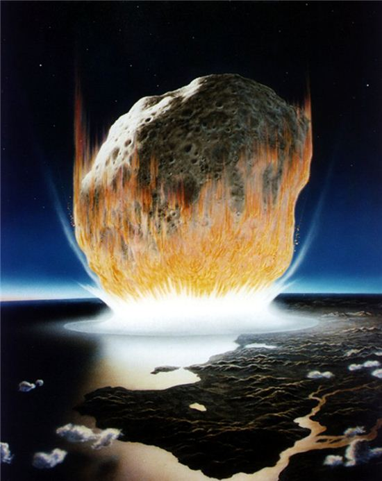 ▲소행성 지구 충돌 상상도.[사진제공=NASA]