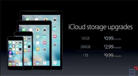 애플은 지난 9일(현지시간) 신제품 발표에서 아이클라우드의 가격을 조정했다.