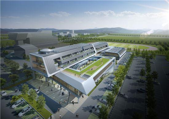 한국전력 에너지밸리센터 조감도.(사진제공=한국전력)